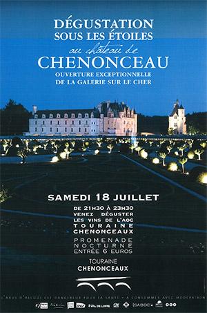 Dégustation de vins sous les étoiles au château de Chenonceau
