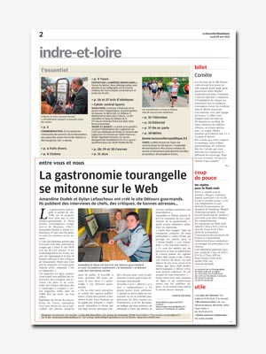 page du journal